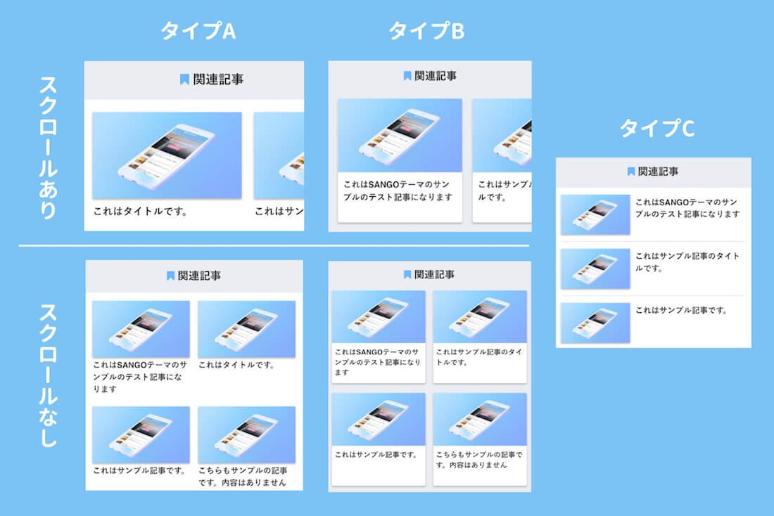 関連記事のモバイルデザイン