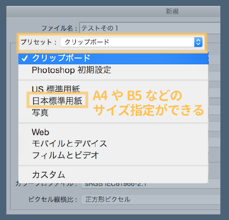 A4、A5などの日本標準用紙規格