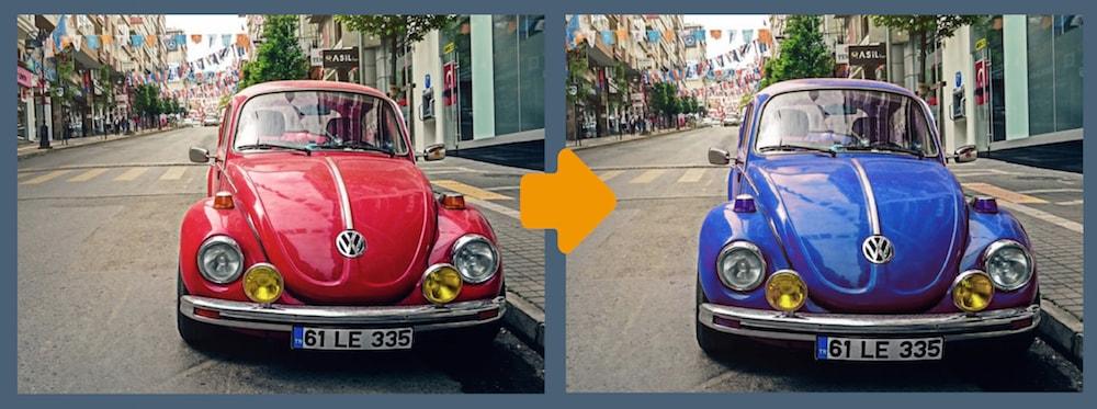 車の色を置き換え