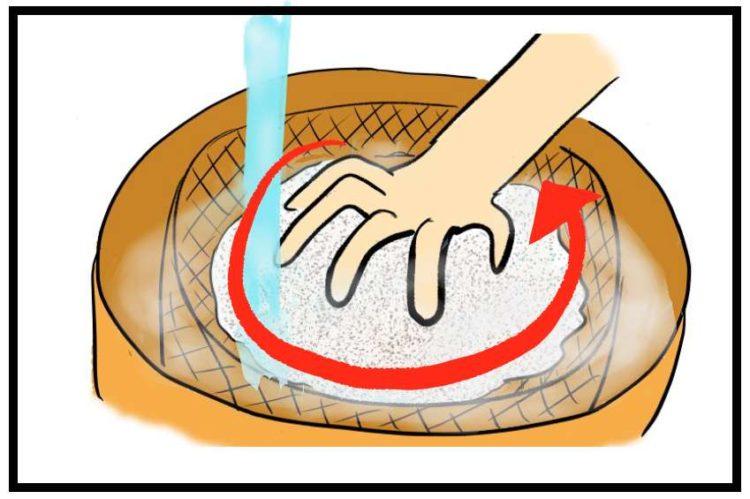 米とぎ手順3