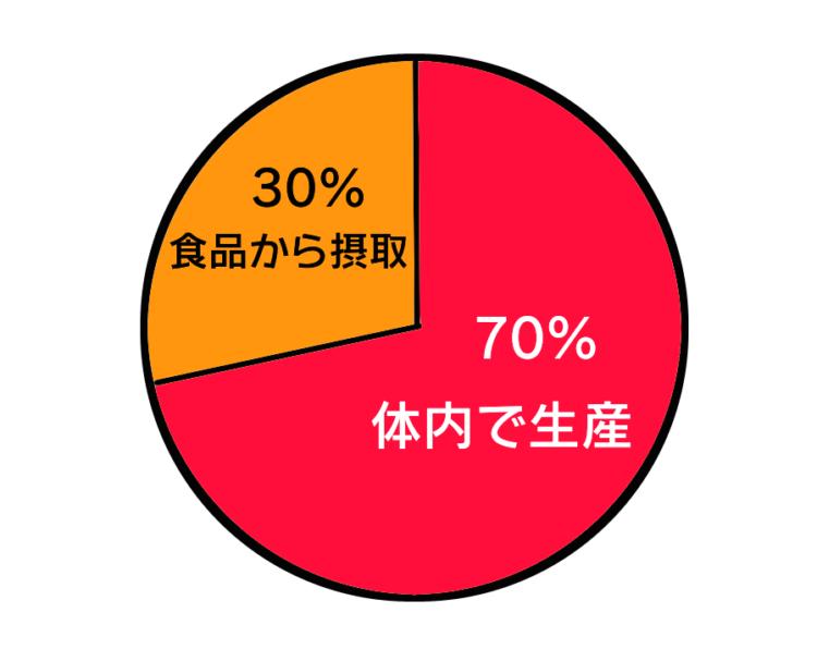 コレステロールの生産割合
