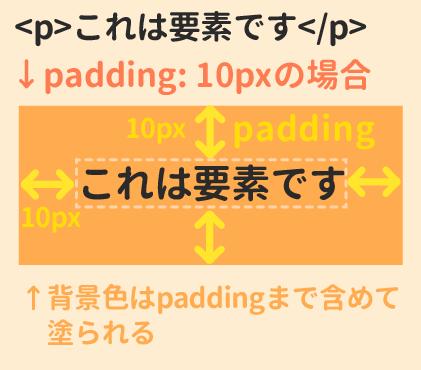padding:10pxの場合