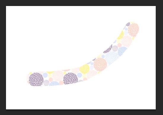 パターンで塗られた線が描かれる