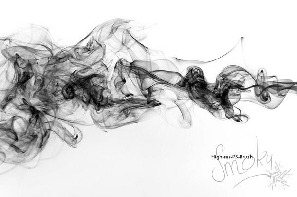 煙のブラシ素材