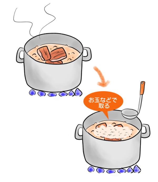 肉・魚のアク取り