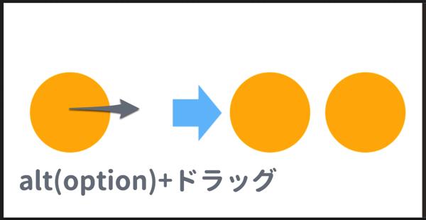 option + ドラッグして複製する
