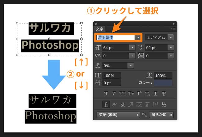 フォント種類を簡単変更