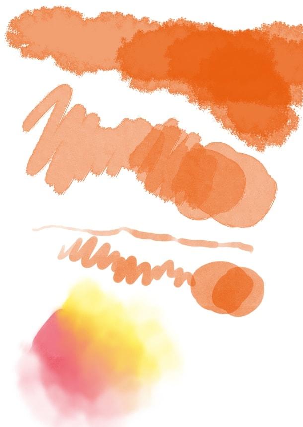 アクリル絵の具風フォトショブラシ素材
