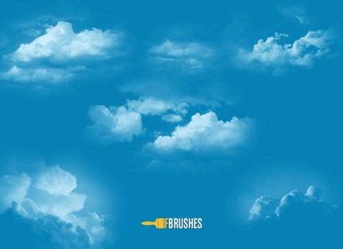 雲風のブラシ素材