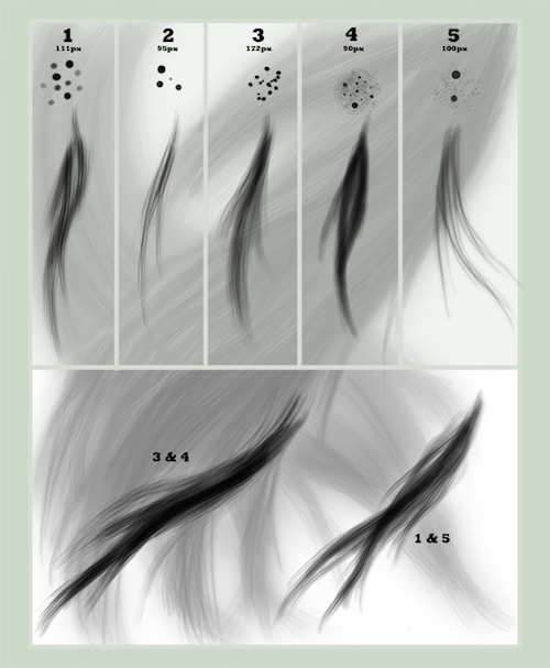 髪の毛のブラシ素材