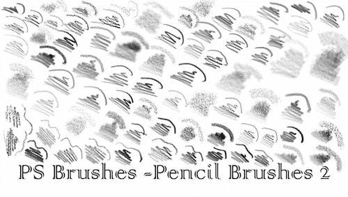 種類豊富な鉛筆ブラシ素材