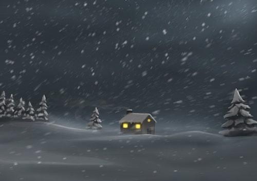 雪のブラシ素材