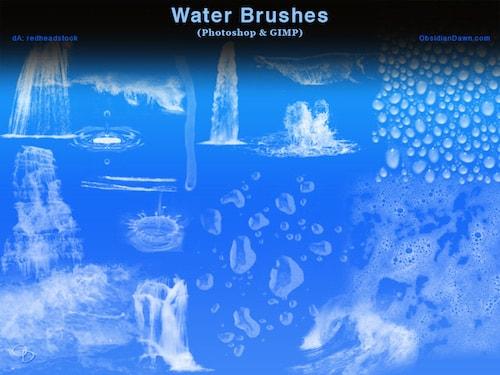 水しぶきや水滴のブラシ素材