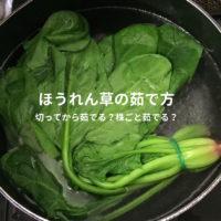 ほうれん草の茹で方:美味しい副菜レシピも紹介