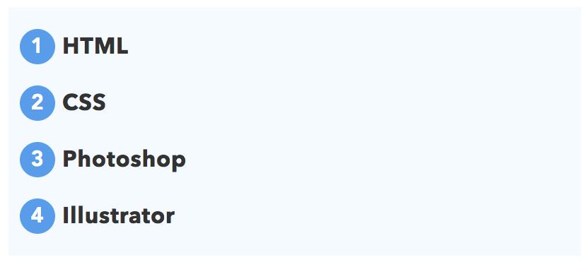 おしゃれなolのリストデザイン例