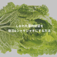 葉物野菜をシャキシャキにする方法