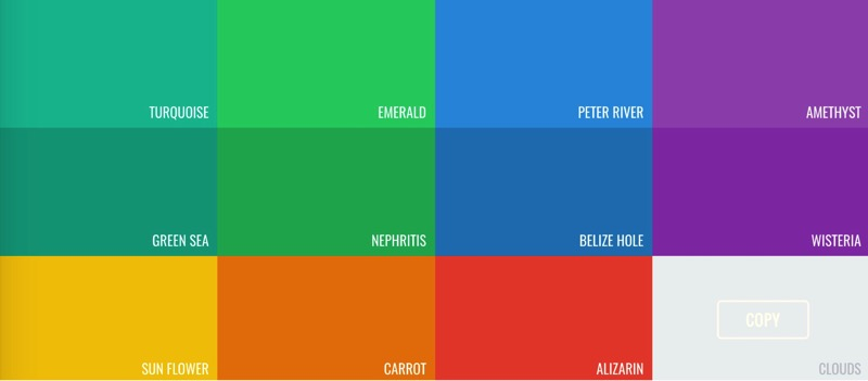 Flat UI Colors  Color Pallette from Flat UI Theme 
