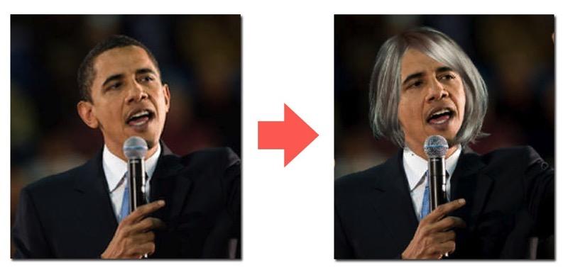 髪の毛を合成する