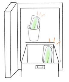 アスパラの冷蔵庫への入れ方