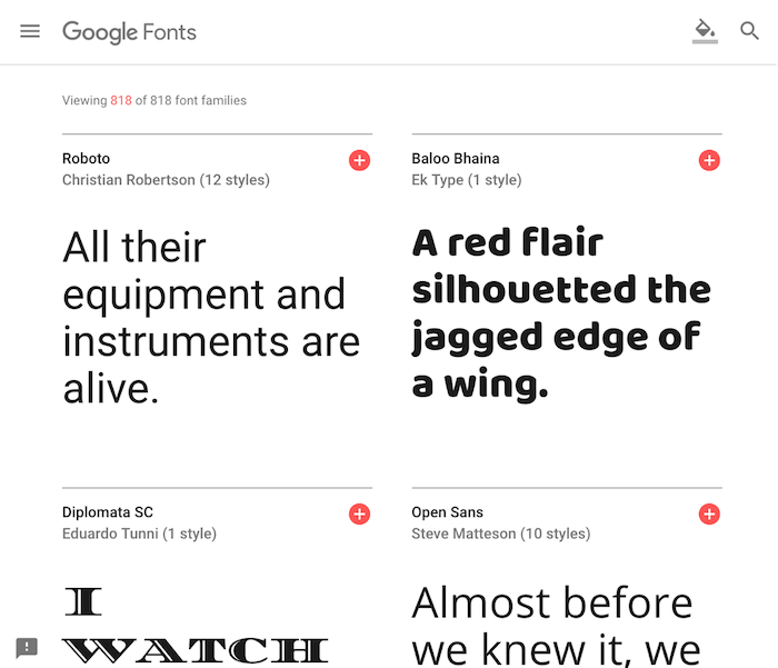 2018年版 google fontsの使い方 初心者向けに解説