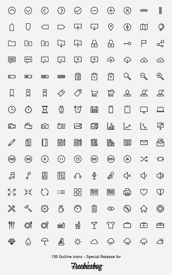 Outlined Icons PSD all min