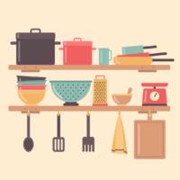 調理器具のイラスト