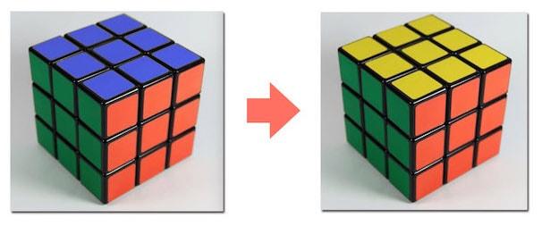 写真の一部の色を置き換える例