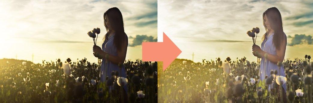 逆光補正の完成イメージ