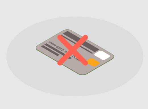 クレジットカードは使えない