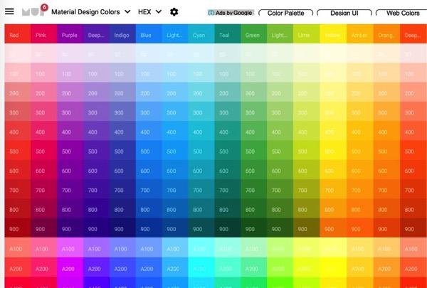 material design ui colors