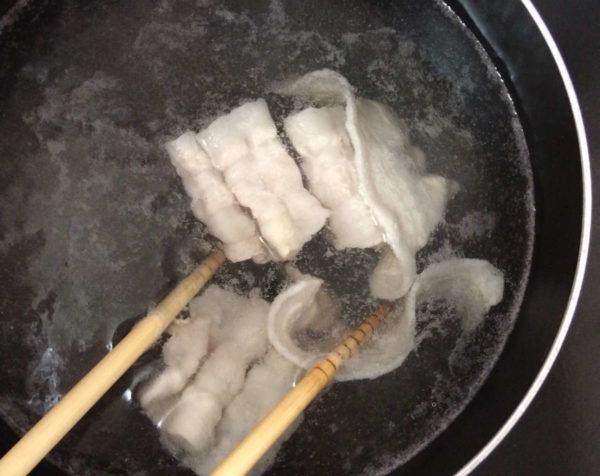 豚肉おろしうどんレシピ2