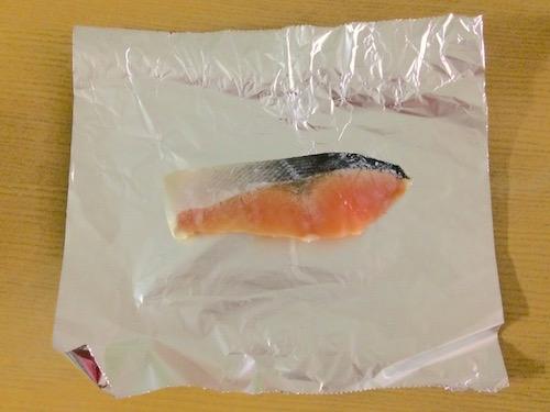 ネギぽん鮭のホイル焼き手順1
