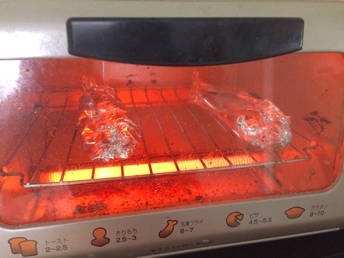 ネギぽん鮭のホイル焼き手順4