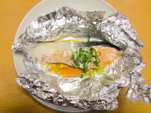 ネギぽん鮭のホイル焼き手順5