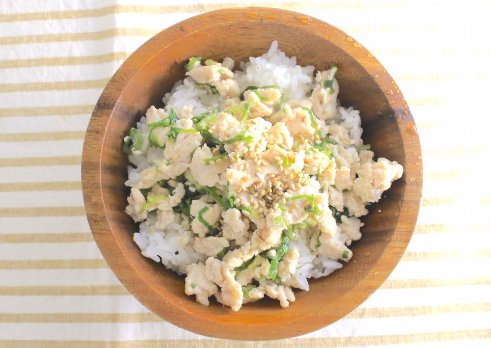 塩とりそぼろ丼の簡単レシピ