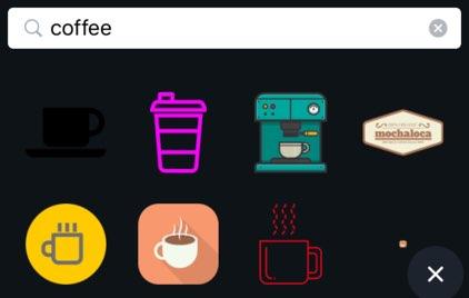 コーヒーのアイコンを挿入
