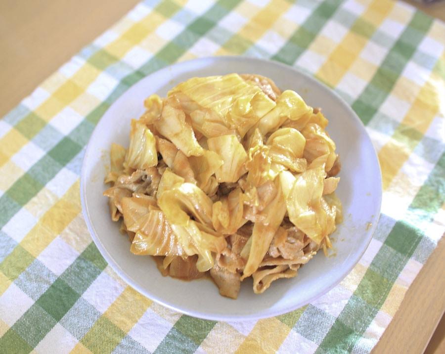 カレー粉とキャベツの炒めもの