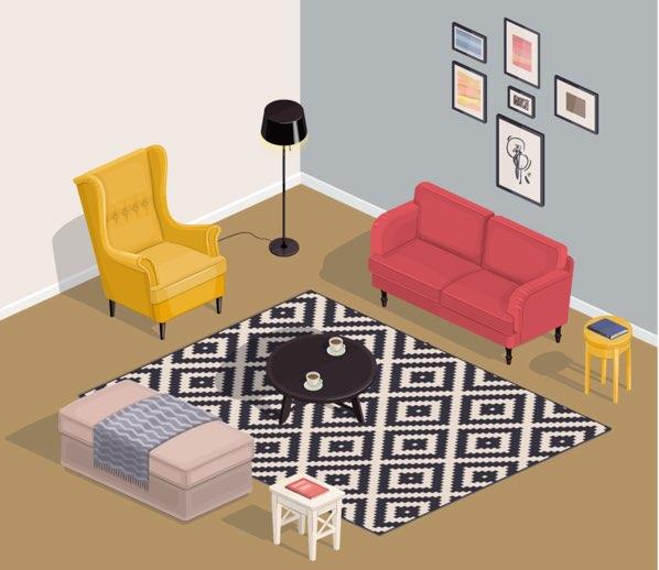 部屋のレイアウト