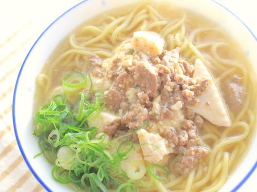 簡単麻婆麺の完成