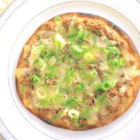 肉味噌そぼろのチーズピザ!トルティーヤを使った簡単レシピ