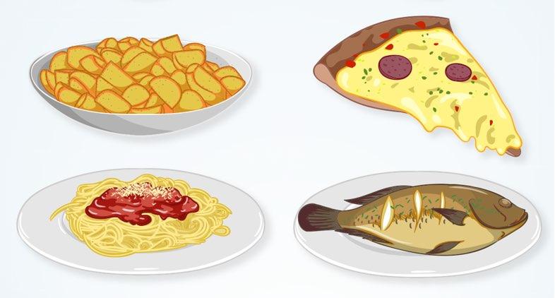 油が多く含まれる料理