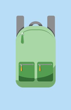 観光用のバッグ