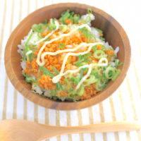 のっけるだけのズボラ飯、鮭マヨ丼の簡単レシピ