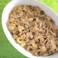 電子レンジで作る簡単おかずレシピ、きのこと豚肉の味噌生姜蒸し
