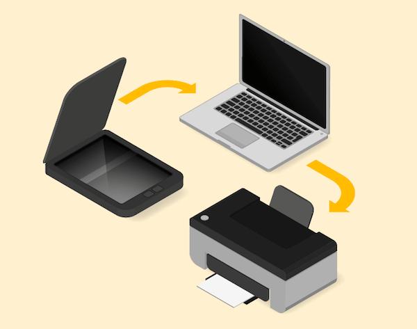 プリンターとパソコンを繋げる