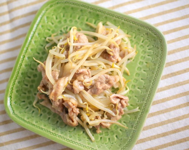 もやしと豚肉のさっぱり蒸しの簡単レシピ