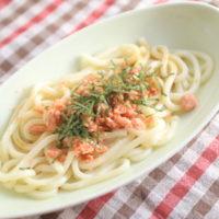 冷凍うどんのズボラ飯!鮭バターしょうゆうどんの簡単レシピ