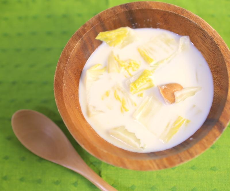 白菜とウインナーのミルクスープの簡単レシピ