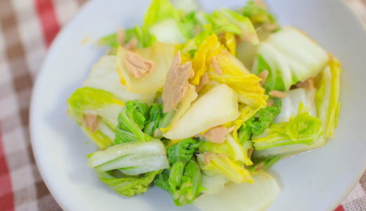電子レンジでできるツナと白菜の簡単おかずレシピ