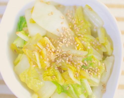 簡単白菜ナムルの完成